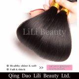 두 배 씨실 밍크 브라질 머리 직물은 100개의 사람의 모발 자연적인 머리 연장을 똑바로 묶는다