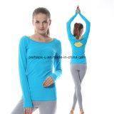 Vestiti di yoga di modo di alta qualità con i manicotti lunghi