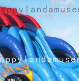 Aufblasbares kundenspezifisches laufendes Auto-Art-Wasser-Plättchen mit Pool