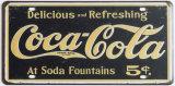 Vintage signe personnalisé gaufré de plaque minéralogique de l'étain signe de l'impression