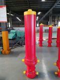 Chromed одиночный действующий гидровлический цилиндр для тележки отброса