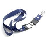 Feixe promocional de tela de seda impresso USB Drive Drive Lanyard