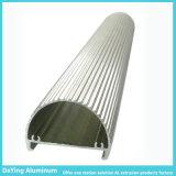 Het concurrerende LEIDENE T8 Profiel Heatsink van het Aluminium met het Anodiseren Kleur
