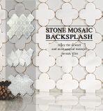Un revêtement de sol en mosaïque de marbre blanc poli/Walling/Salle de bains carreaux en pierre pour matériaux de construction
