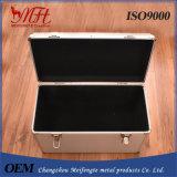 Caixa carreg de viagem de alumínio de caixa de armazenamento da caixa de ferramentas de alumínio