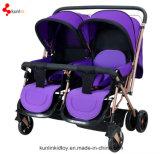 Almofada de bebê com bebê duplo gentil bebê / Carrinho de passeio para crianças / Carrinho de passeio dobrável 3-em-1 Made in China