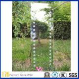 2mm-8mm completo espejo Legth vidrio flotado con el borde pulido