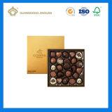 Drukte de Rode Kleur van de luxe het Matte Vakje van het Document van de Chocolade Verpakkende (af met gouden embleemfolie)