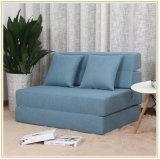 L'azzurro sezionale versatile del tessuto di Flannelette del sofà estrae la traversina della base 195*100cm