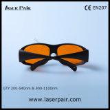 óculos de proteção da proteção de olho dos vidros da segurança do laser 532nm & 1064nm para 2 a linha YAG e Ktp com frame 33