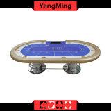 A tabela oval do póquer de Texas dos benefícios do valor dos pés do disco do póquer de Texas do casino com o jogador 10 personaliza Ym-Tb018 de jogo