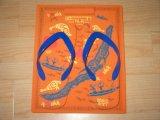 Junta forma de rectángulo del flip-flop con la insignia del cliente