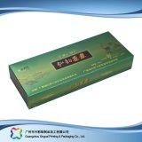 Rectángulo cosmético de empaquetado pila de discos plano barato impreso de la medicina del plegamiento (xc-pbn-001)