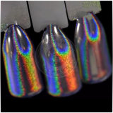 Rainbow Silver Pearl Glitter pigments colorants holographique Laser Chrome