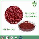 0.2%-5% Выдержка риса дрождей Monacolin k красная