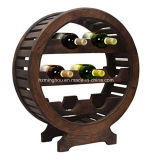 Decoración de madera clásica del almacenaje del sostenedor del vino de 6 botellas