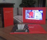"""中国の手製のメモリ4GB 8GB A5サイズ7 """"セクシーなLCDのパンフレットスクリーンのビデオカード"""