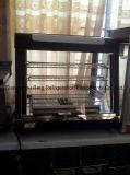 Vetrina di vetro curva della visualizzazione dello scaldavivande con Ce