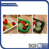 Bandeja de plástico desechables coloridas verduras