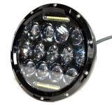 """7 """"ジープのラングラーJkuのための円形75W LEDのヘッドライト"""