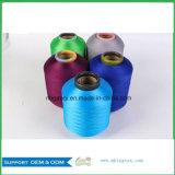 Garn-Textilgarn-Lieferant Scy Polyester-Garn des Polyester-30150/48f setzt Spandex eingewickeltes für Preis Diagramme fest