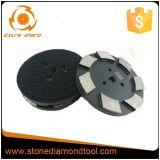 almofada de polonês do metal do mármore do gancho de 100mm & do segmento do diamante do laço
