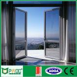 Doble acristalamiento de aluminio y puerta de oscilación de la puerta de Casement Pnoccd0010