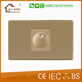 Interrupteur mural électrique de couleur dorée de 500W Dimmer Fan