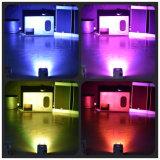 Wireless WiFi BATERÍA RECARGABLE DE CONTROL DE POTENCIA 4X15W RGBWA PAR LED de luz UV puede