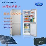 Purswave Bcd-168 168L DC12V24V Refrigerador de frigorífico solar Refrigerador de porta dupla e refrigerador Compressor Refrigeração para autocarro de carro Autocarro