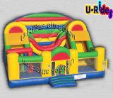 Спортивная площадка оптовой раздувной комбинированной препоны раздувная с скольжением для малышей