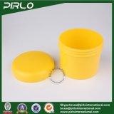 опарник пластмассы воска волос цвета желтого цвета опарника 300g 10oz PP пластичный косметический Cream