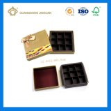 Custom Трюфель шоколадный 9PCS упаковки подарок шоколад в салоне (Печать и Подача бумаги делитель)
