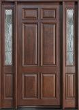 Porte rustique d'entrée en bois solide de Chambre avec Windonw (GSP1-033)