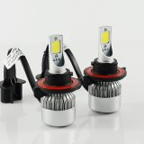 Auto Front LED Bulb H13 C6 COB 72W LED Headlight Kit 7600lm LED Car Light com 6000k Daytime Running LED Head Light
