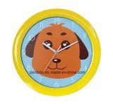 Horloge de mur à la mode personnalisée par animal mignon pour des enfants