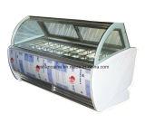 La crème glacée Showcase/ Affichage de la crème glacée de la machine avec des prix concurrentiels