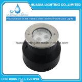316de acero inoxidable resistente al agua bajo el agua de piscina LED de luz (Base redonda)