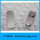 付着力のロゴのABSプラスチック磁気名前入りの記章
