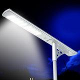 IP65 alle in einem im Freien LED-Solarstraßenlaterne-Bewegungs-Fühler-Ausgangslicht mit Pole-Straßen-Licht-Preisliste für Verkauf