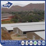 Edificio de marco de acero prefabricado del revestimiento del aislante