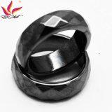 Htr-006b Original Fashion 6mm Largeur Black Section Hematite Ring Jewelry