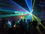4 Köpfe RGB farbenreiche Laserlicht-Stadiums-Beleuchtung