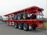 Baja de contenedor de 40 pies de cama semi remolque / cama plana semi remolque para venta a África