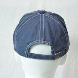 Chapéu feito sob encomenda do tampão da lavagem do boné de beisebol do algodão dos painéis do azul 6