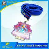 기념품 (XF-MD10)를 위한 싸게 주문을 받아서 만들어진 연약한 PVC 고무 메달