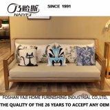 Sofá de tecido de madeira sólida moderno do Sudeste Asiático para móveis de casa CH-611
