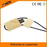 Movimentação de madeira modelo quente do flash do USB com corda