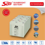batteria del AGM 2V3000ah per l'impianto di ad energia solare