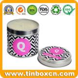Boîtes en fer blanc pour la bougie avec différentes couleurs et parfums
